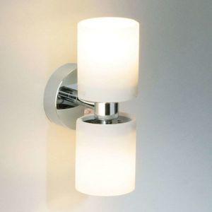 Nástěnné světlo Tube Twin Short, chrom