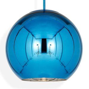 Tom Dixon Copper Round 45 - závěsné světlo modré