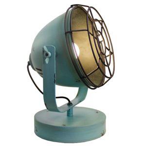 Tyrkysová stolní lampa Levi v designu Vintage