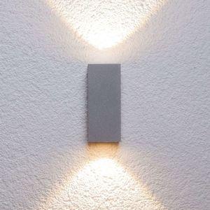Stříbrné venkovní nástěnné svítidlo Tavi sLED