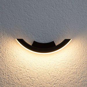 Grafitové LED venkovní světlo Half