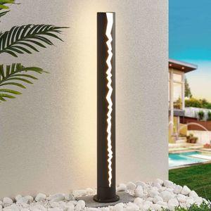 Patníková LED lampa Keke, tmavě šedá, 100 cm