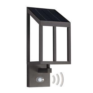 Lucande Timeo LED solární venkovní nástěnné světlo