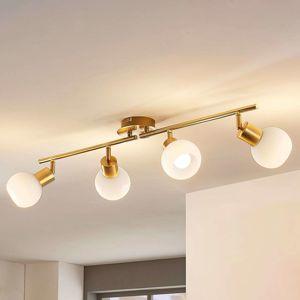 Stropní LED lampa Elaina, 4bodová, mosaz