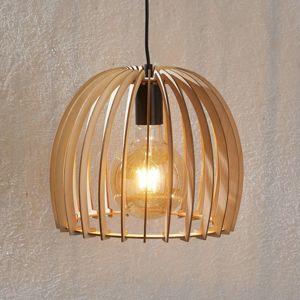 Dřevěné závěsné světlo Bela, Ø 30 cm