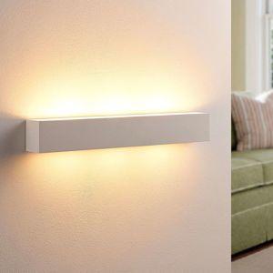 Tjada - podlouhlá nástěnná LED lampa ze sádry