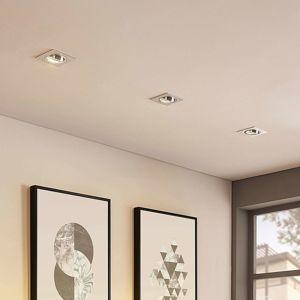 Hranatý LED zapuštěný reflektor Cecylia z hliníku