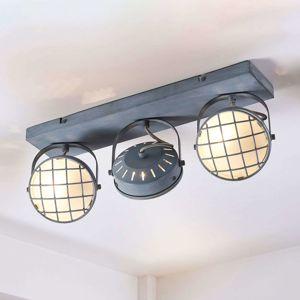 Tamin - šedé stropní LED světlo, industriální