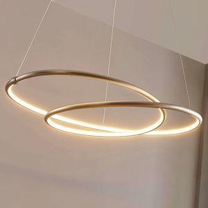 LED závěsná lampa Mirasu, spirálovitá, nikl
