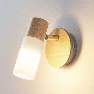 Dřevěný spot Christoph s LED žárovkou
