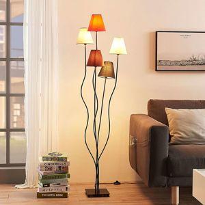 Melis - 5zdrojová textilní stojací lampa, obývák