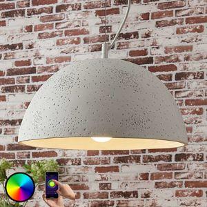 Lindby Smart betonové závěsné světlo Carolle