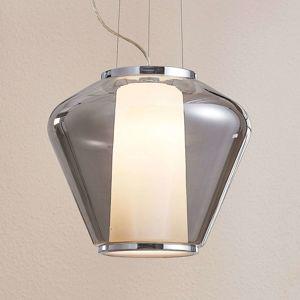 Závěsná lampa z kouřového skla Lorit