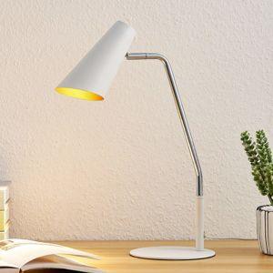 Lucande Wibke stolní lampa v bílé barvě