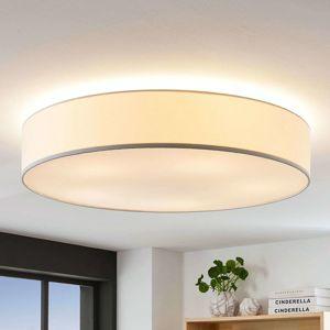 Textilní stropní svítilna Gordana v bílé, 76 cm