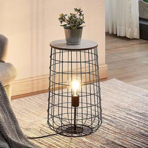 Lindby Winnie stolní lampa s dřevěnou deskou