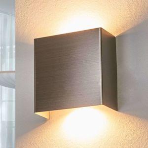 LED nástěnné svítidlo Manon, nikl, 10,5 cm