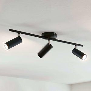 Lindby Camille LED stropní svítidlo, černé, 3zdr