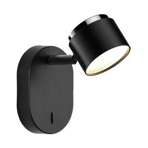 Lindby Marrie LED bodové světlo s vypínačem, černé