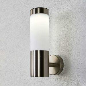 Válcovitá LED solární nástěnná lampa Aleeza, nerez
