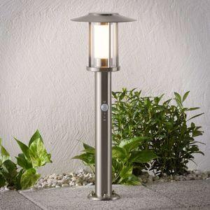 LED svítidlo se soklem Gregory, nerez, senzor