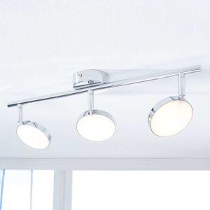 LED stropní reflektor Keylan, 3zdrojový, podlouhlý