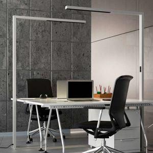 Kancelářská LED stojací lampa Jolinda, stříbrná