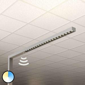 LED stojací lampa Laris, stříbrná, 3 000-6 000 K