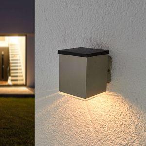 LED solární venkovní svítidlo Tyson, hranaté, čiré