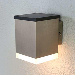 LED venkovní svítidlo Tyson, hranaté, satinované